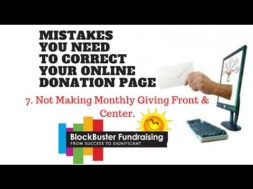 Is Your Donation Page Frustrating Your Donors? Mistake #7 Not Making Monthly Giving Front & Center