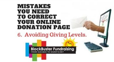 Is Your Donation Page Frustrating Your Donors? Mistake #6 Avoiding Giving Levels