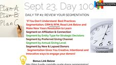 Daily Tip #2: Review Your Segmentation