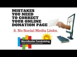 Is Your Donation Page Frustrating Your Donors? Mistake  #8 No Social Media Links